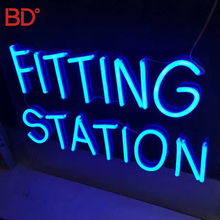 Custom Led Neon Sign China Outdoor Waterdichte <span class=keywords><strong>Blauwe</strong></span> kleur Flex Decoratieve Neon Letters