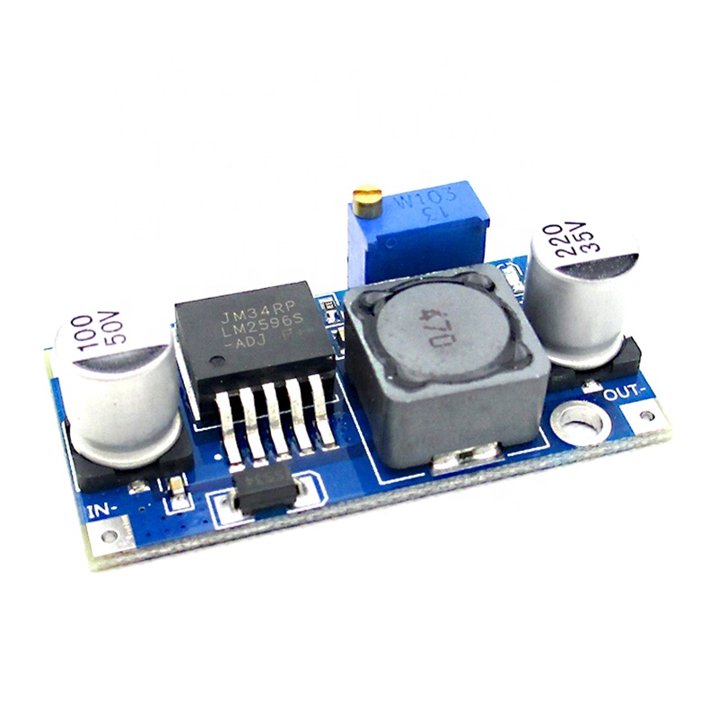 LM2596S DC-DC Step-Down Power Supply Modul 3A Adjustable LM2596 Regulator Tegangan 24V 12V 5V 3V LM2596S-ADJ
