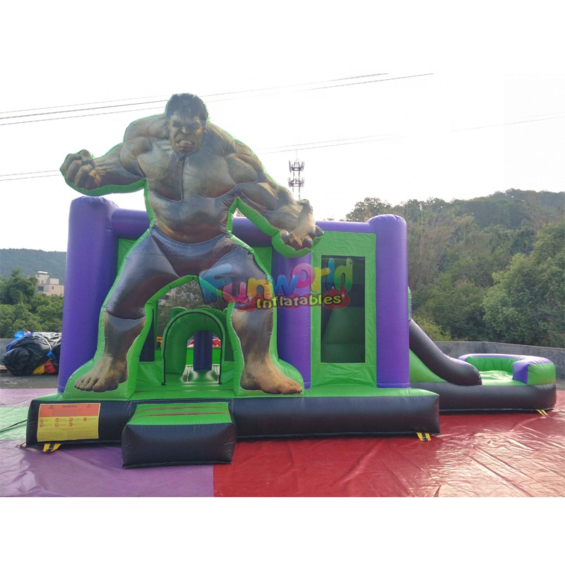 Custom inflables kids hulk bouncer castle spider-man bounce house inflatable jumping castle
