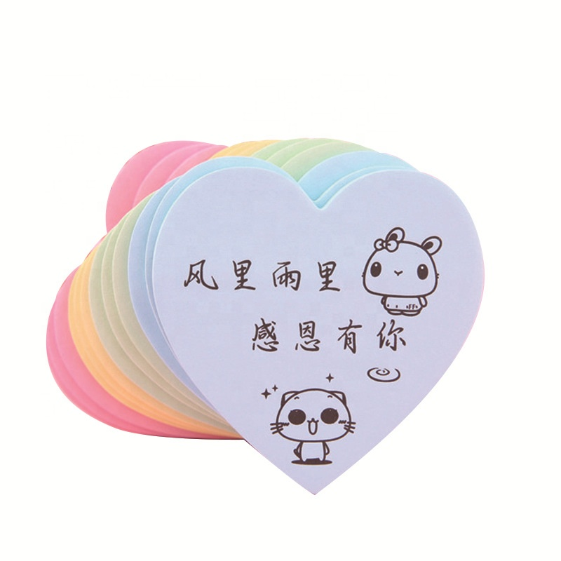 Custom kawaii speelgoed papeleria leuke memo pad koreaanse dier briefpapier notepads sticky notes