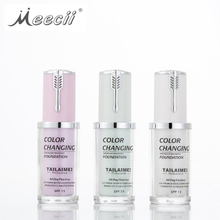 Tlm Huid Spot Cover Kleur Veranderende <span class=keywords><strong>Make-Up</strong></span> Basis Hydraterende Vloeistof Cover Concealer Foundation Make Liquid