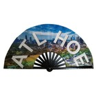 Custom printed bamboo large hand folding fan for promotional gifts