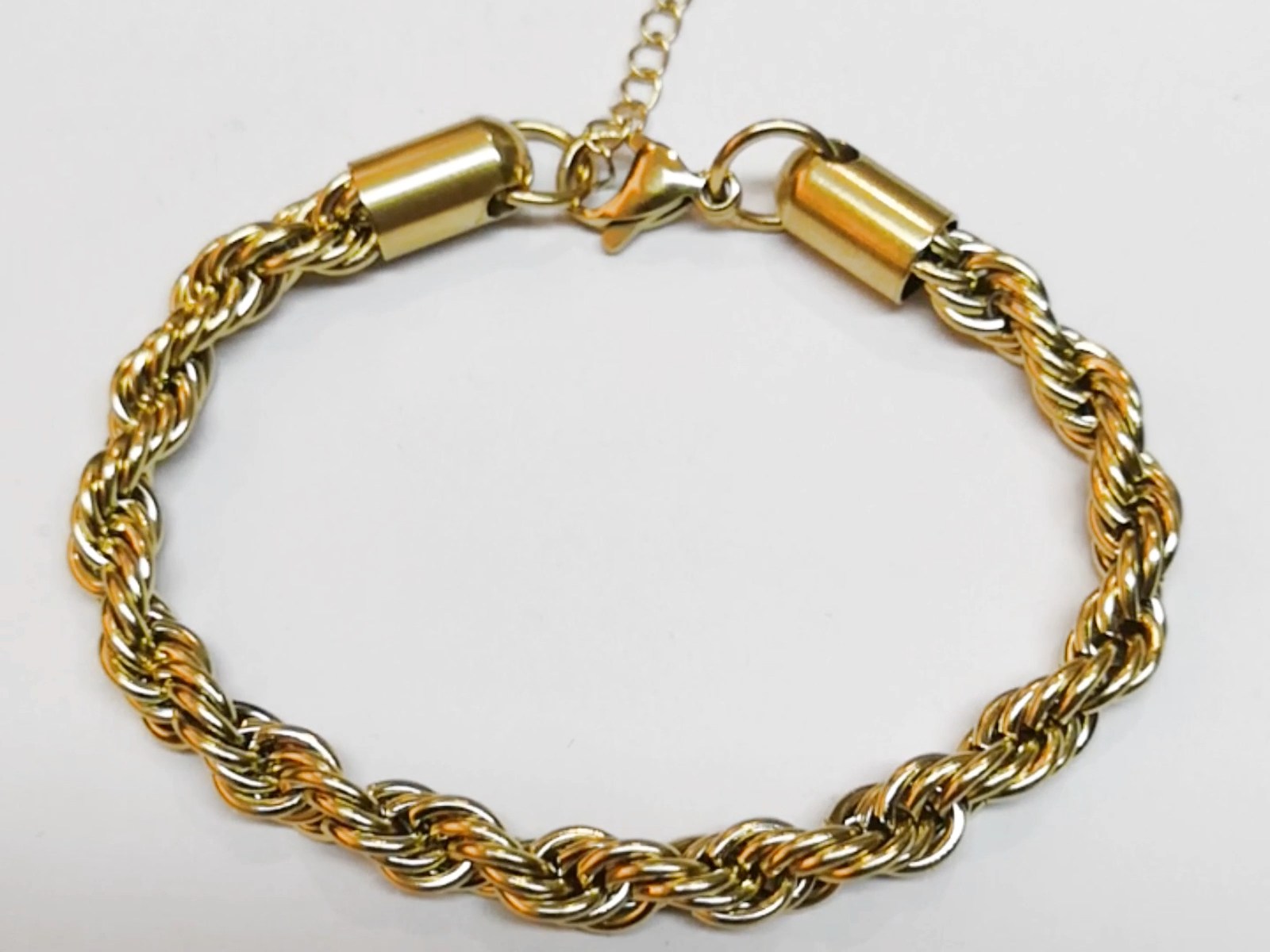 Bijoux de mode Bon Marché rentable 18K Plaqué Or En Acier Inoxydable Ficelle Torsion Bracelet B202080