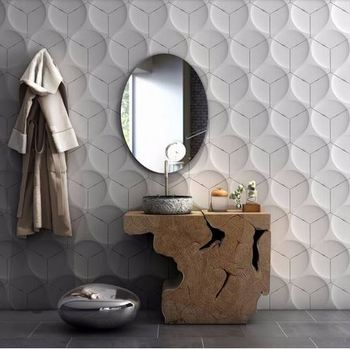 3d leather wall panel styrofoam 3d panel wall coating 3d wall panel with full  color