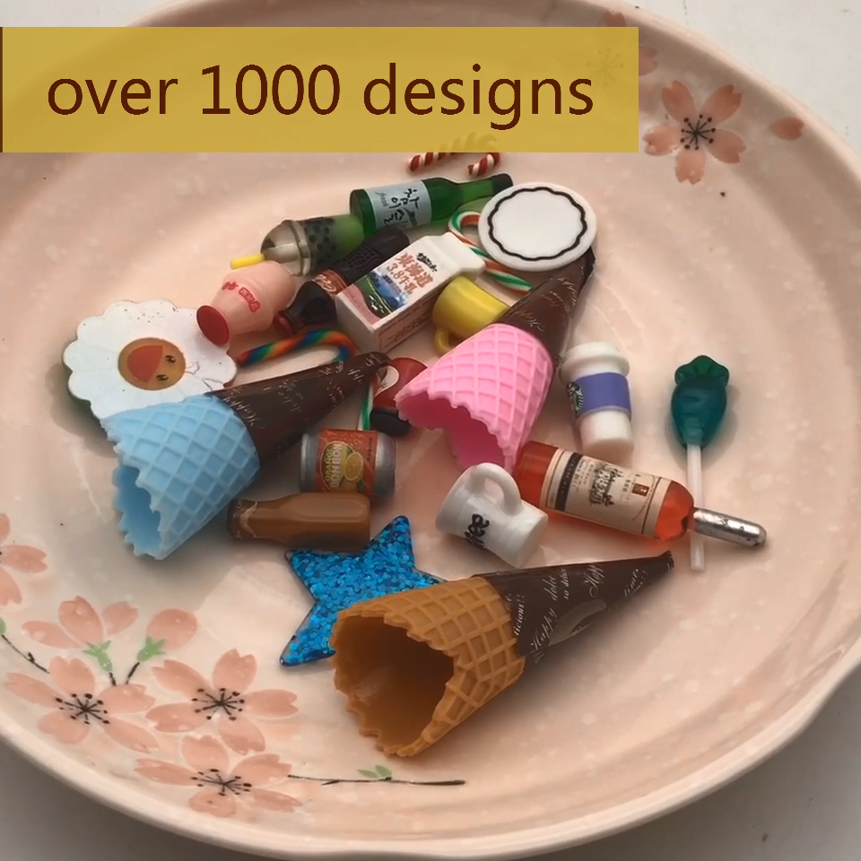 over 1000 designs bulk mini ice cream cone slime charmsfor kids plastic food models