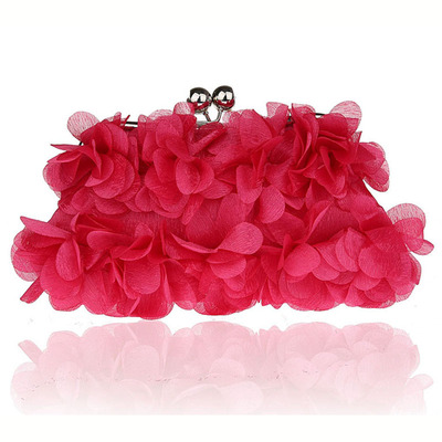 2020 New Banquet Clutch Flower Bag Evening <strong>Totes</strong> for Womens Handbag Sweet Petal Bridesmaid Wedding Designer Bags with Rose