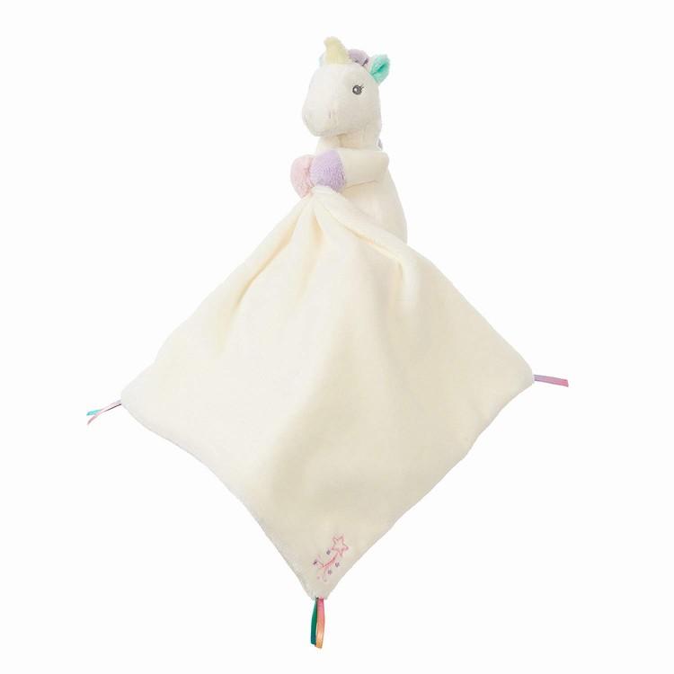 자격 화이트 솔리드 유니콘 동물 니트 보안 폴리 에스터 아기 담요