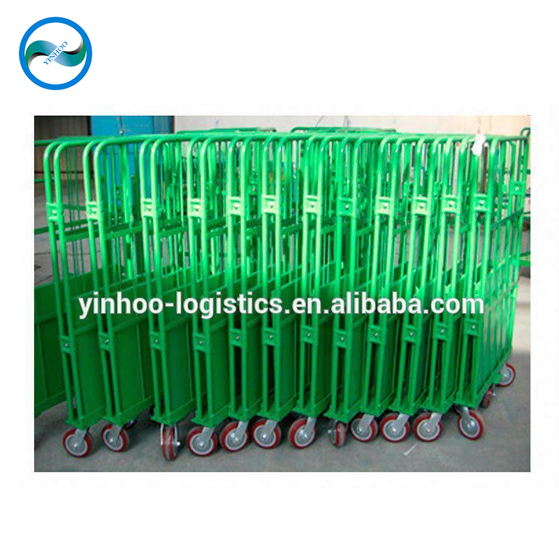 चीन foldable नीले टेबल रोल पिंजरे ट्राली