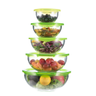 One-Stop Service Glass Mixing Bowl Set With Lid IKOO Prep Bowls With Lids Microwave Use Clear Mini Glass Bowl Set Mixing Glass Salad Bowl