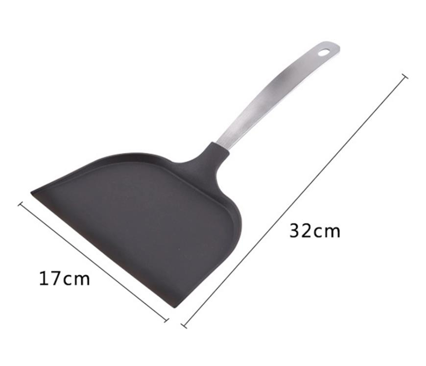 Factory Price Multipurpose Nylon Nonstick Kitchen Spatula Shovels Pizza Peel Wide Surface Paddle Spatula Oven Bread Bakeware