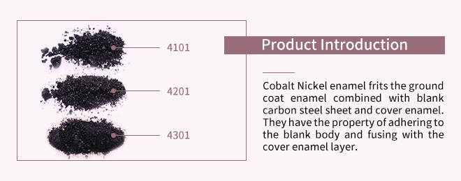 Porcelain enamel Medium Temperature Cobalt-nickel Enamel Frit