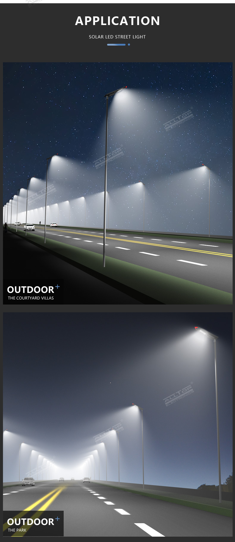ALLTOP High lumen bridgelux smd outdoor waterproof ip65 150w integrated all in one solar led street light