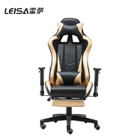 Ergonomic Swivel Computer Office Gaming Racing Chair Recliner With Footrest