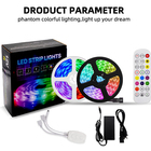Led Strip Led Led 12v Strip LED Light Strip Kit 5050 RGB 32.8ft 600LED IP20 Non-Waterproof Blueteeth IR Controller 24#3key Remote SMD5050 12v Led Strip
