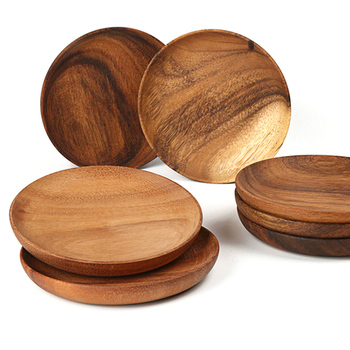 High Quality Wholesale Round Acacia Wooden Plate