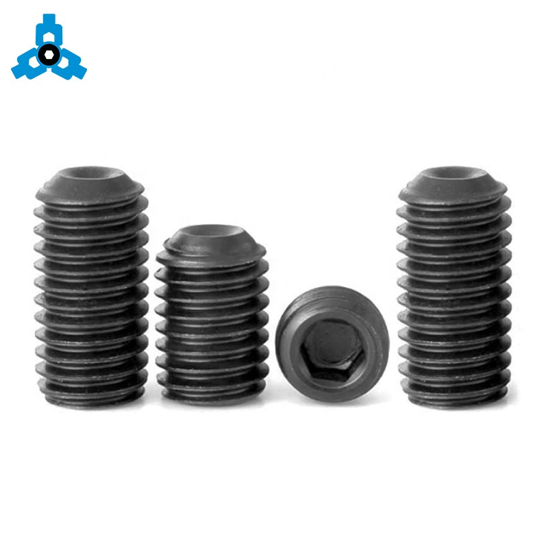 DIN916 Inner Hex Socket Set Screws With Cup Point Stainless Steel OEM Stock Support