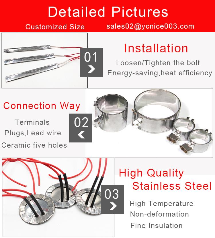 Высокая ватт нагревательный элемент Mica изоляции полосы/плоский нагреватель