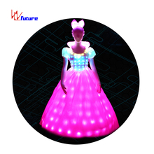 Full Color Led Jurk Prinses Jurk C/W Hoofddeksels Led Dans Kostuums <span class=keywords><strong>Glow</strong></span> <span class=keywords><strong>In</strong></span> <span class=keywords><strong>The</strong></span> <span class=keywords><strong>Dark</strong></span> <span class=keywords><strong>Jurken</strong></span> Halloween <span class=keywords><strong>Glow</strong></span> party Dress