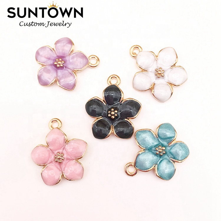 Wholesale Cherry Blossoms Jewelry <strong>Charms</strong> for Bangle Bracelet Making Jewelry Suntown
