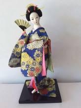Каваи ручной работы 30 см кимоно японской гейши кукла скульптура Японский дом Статуэтка украшения дома аксессуары(Китай)