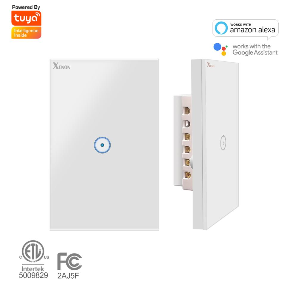 Zigbee/WiFi Alexa echo Wall Switch Smart Wi-Fi Switch button 1/2/3 Glass Panel Ivory White US Touch Light Switch panel 110v~240v