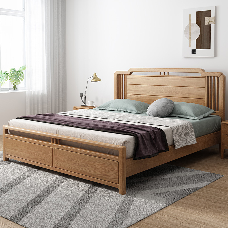 product-BoomDear Wood-Factory price useful modern stylish hot selling solid wood bed wholesale retai