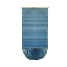Neue design <span class=keywords><strong>blau</strong></span> farbe fan shaped plissee <span class=keywords><strong>jalousien</strong></span>