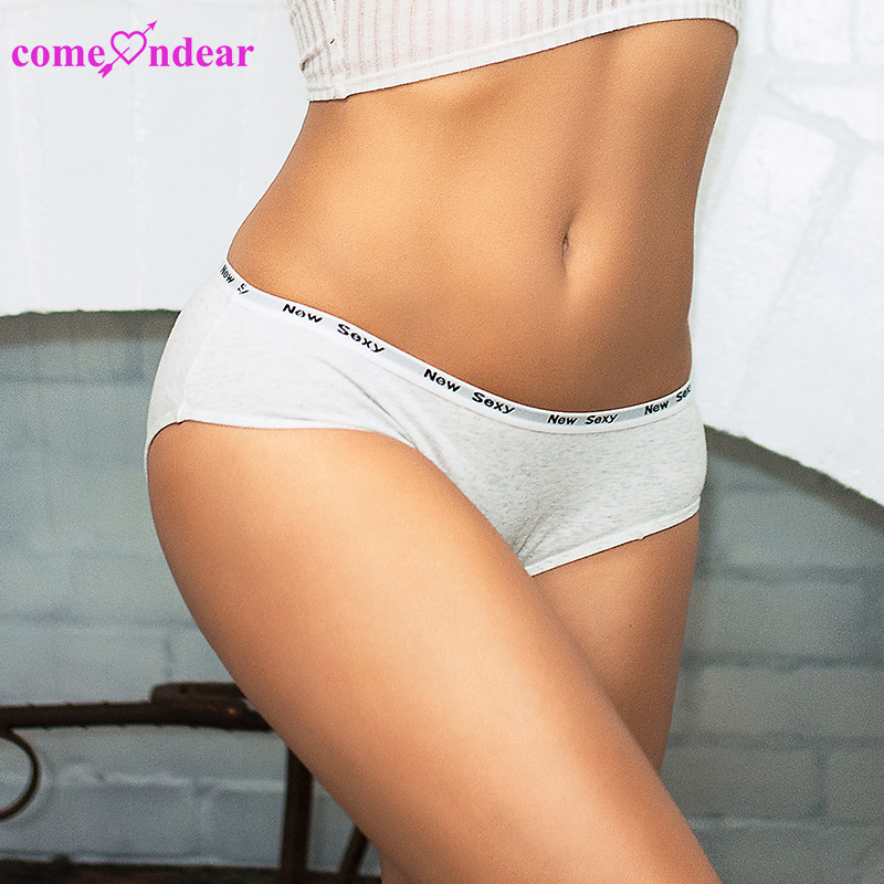 ODM in stock low MOQ lingerie white women's panties cotton