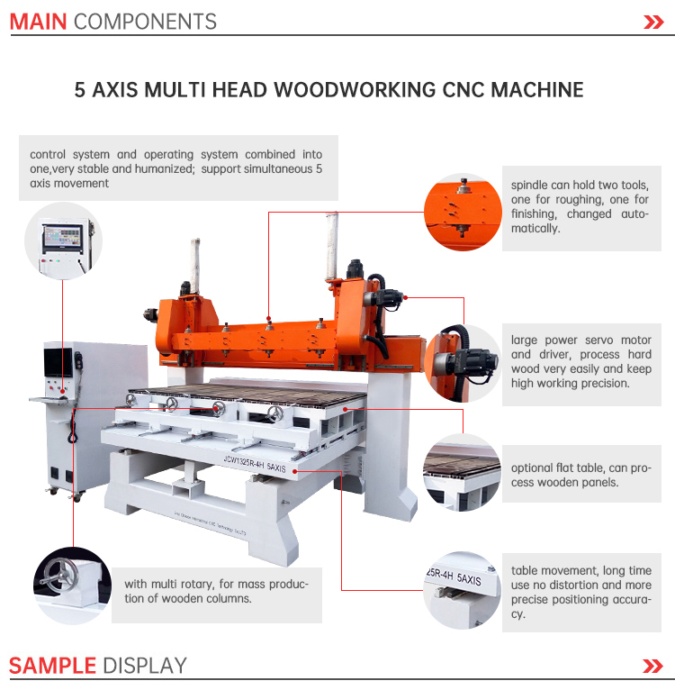 high speed cnc multifunction woodworking milling machine