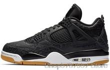 Баскетбольные кроссовки Nike Air Jordan 4, мужские и женские кроссовки с высоким берцем в стиле ретро, 308497-06()