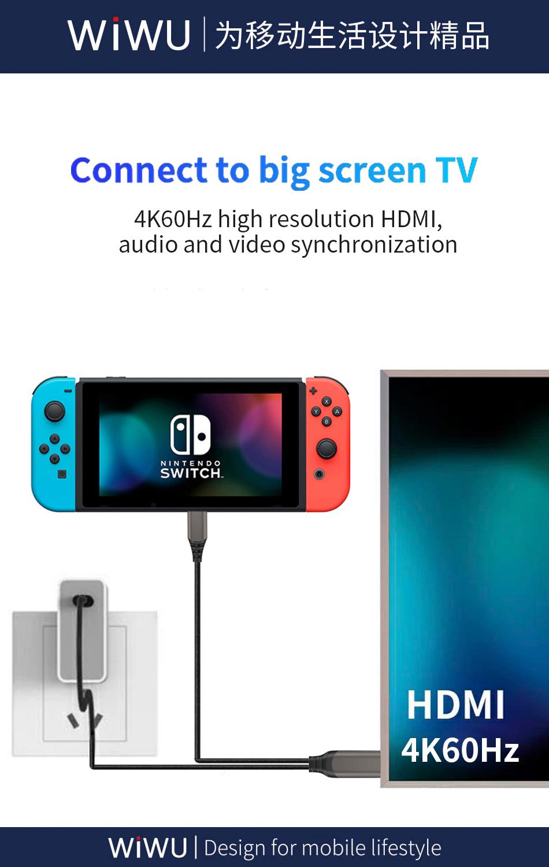 WiWU X10 type-c转HDMI数据线 (https://www.wiwu.net.cn/) 数据线 第4张