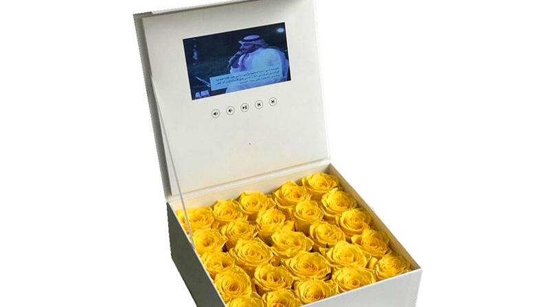 ब्रांड पदोन्नति उच्च संकल्प एलसीडी स्क्रीन आपूर्तिकर्ता वीडियो उपहार बॉक्स 7 इंच