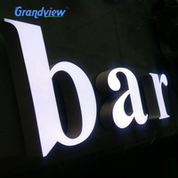 Custom logo signs shop signs Led Acrylic Light Letters Outdoor 3D Acrylic Front Lit LED Sign letter