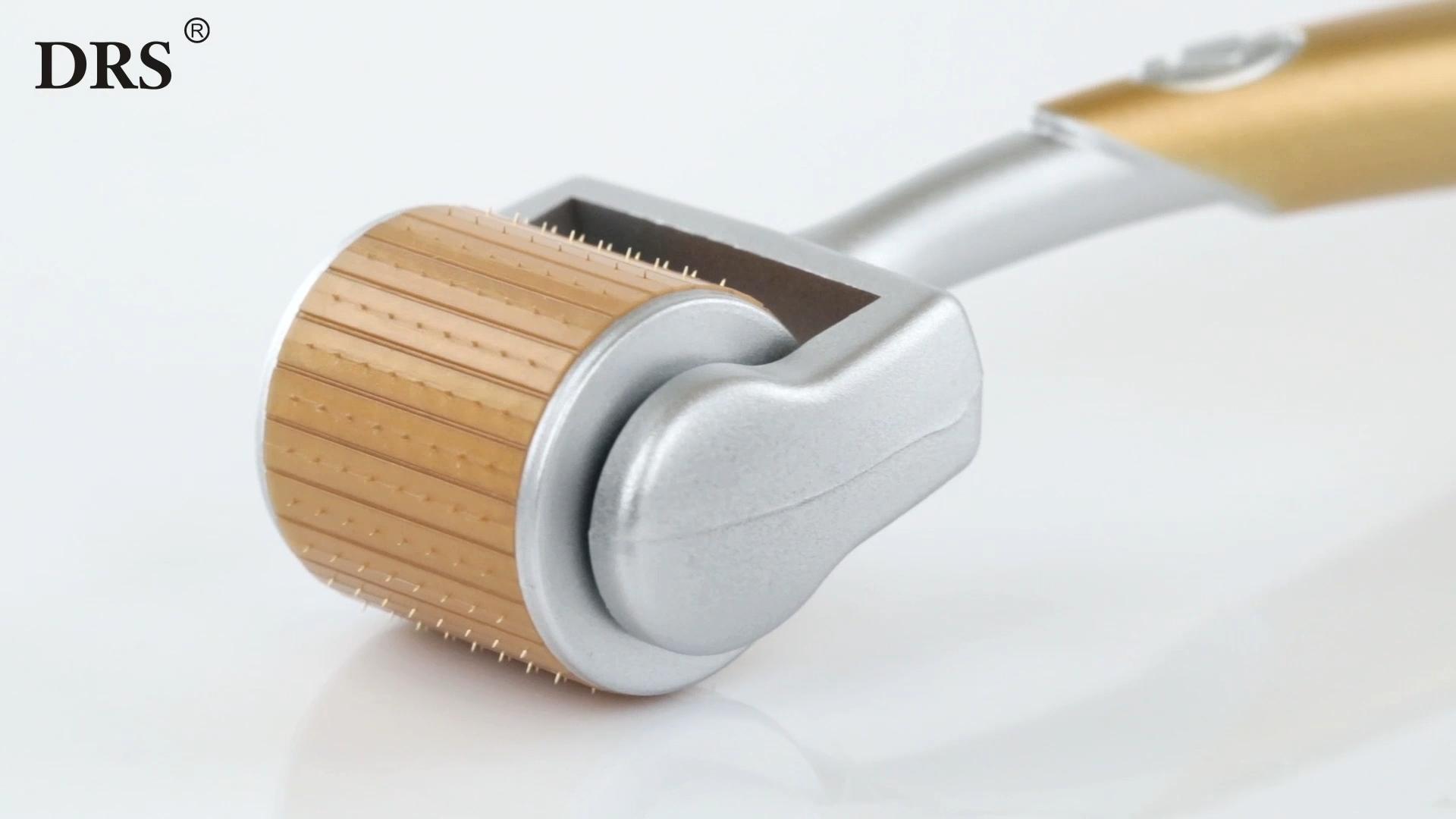 Gtsroller 192 Amazon Best Verkopende Thuisgebruik Microneedle Systeem Gouden Schijf Naalden Medische Grade Derma Roller