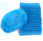 Nurse Medical Disposable Head Cap Nurse Hat Non Woven Elastic Cheap Surgical Bouffant Caps