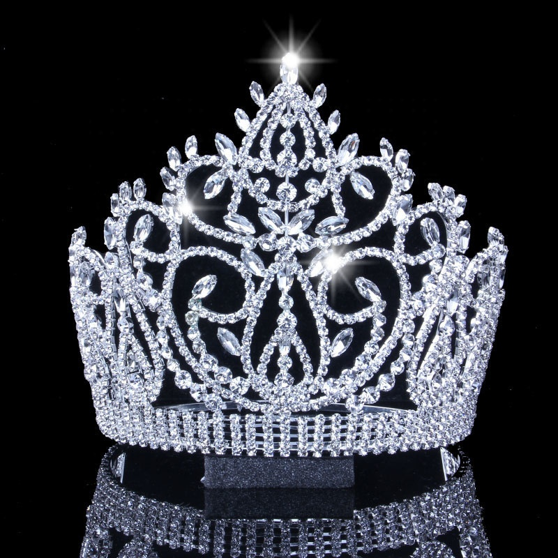 Bulk Princess Rhinestone Crystal Beauty Custom Big Pageant Queen Miss World <strong>Crown</strong> And Tiara
