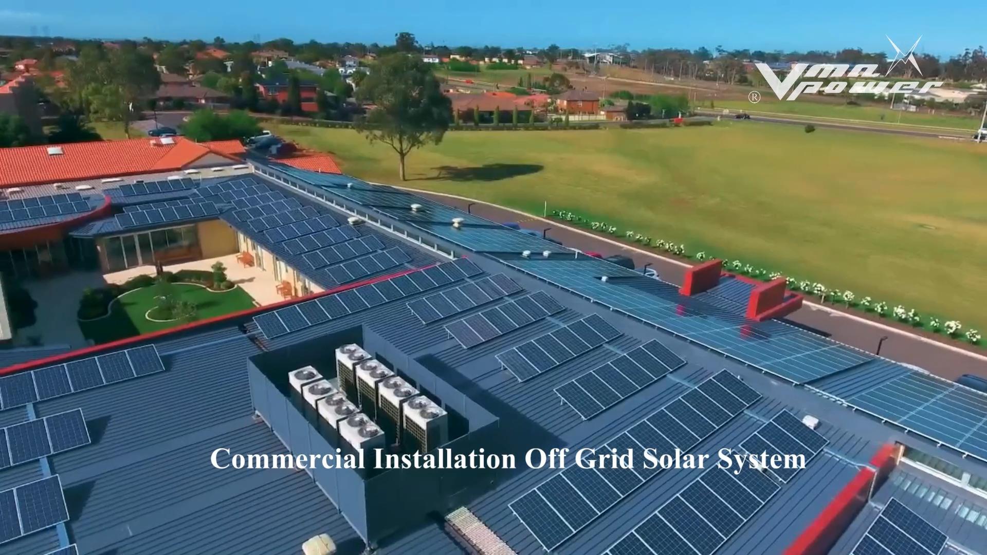 Vmaxpower 5kw Off Grid Híbrido Sistemas Domésticos de Energia Solar Em Casa Completa de Sistemas de Energia Solar Sistema de Energia Solar Para Casa