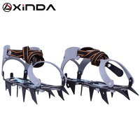 XINDA steel 12 teeth ice climbing crampons for high mountains 6km maximum