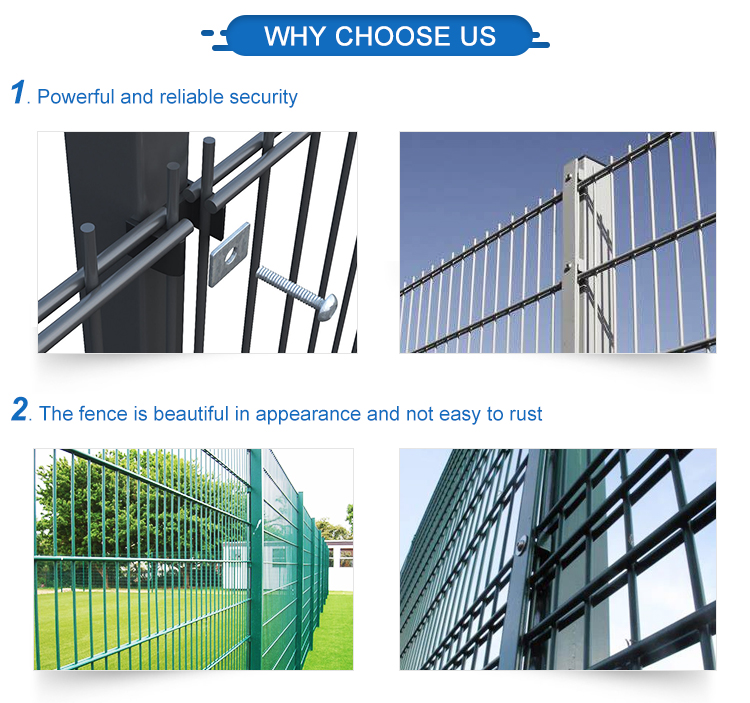 Wholesale custom hot dipped galvanized pvc coated 868 double wire mesh fence