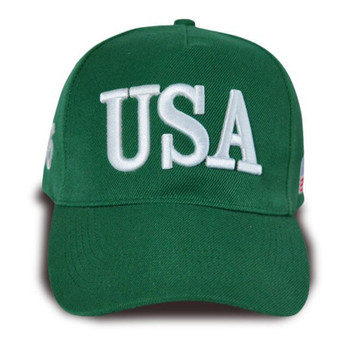 Quick shipping inventory Embroidered Logo 5 panels USA hat baseball cap sports hat