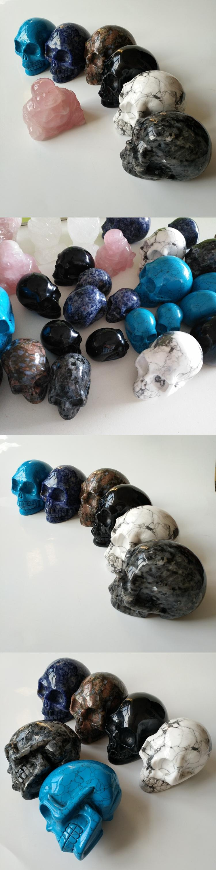 Valentine souvenirs rainbows crystal skulls natural black