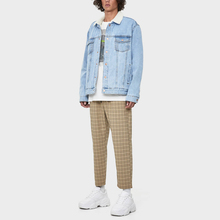 Dritto montato <span class=keywords><strong>pantaloni</strong></span> <span class=keywords><strong>plaid</strong></span> mens <span class=keywords><strong>pantaloni</strong></span> con coulisse in vita
