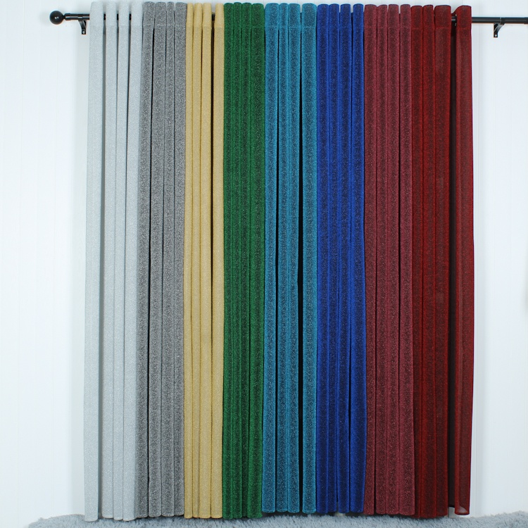 Ready to ship modern woven velour fabric blackout rideaux curtain luxury decoracon de cortinas