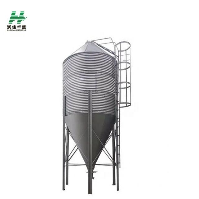 HS Conical Bottom Steel Silos Galvanized Metal Grain Silos Farm feeding silos