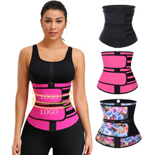 New Design Rosa Vermelha Abdominal Trainer <span class=keywords><strong>Cintura</strong></span> Tummy Controle Duplo Correias Látex Shapers