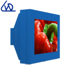 Outdoor wall mounted 55 inch waterproof LCD TV IP65 for advertising with AC