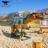 Theme Park Custom Attraction High Quality Waterproof Life Size Animatronic Dinosaur