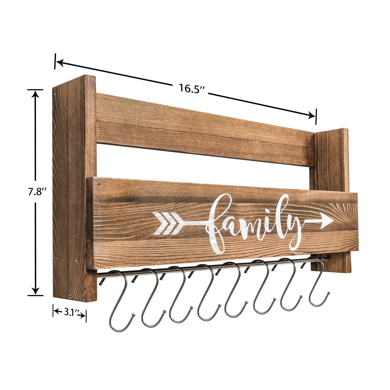 Rustic Wall Storage Shelf Wooden Hanging Coffee Mug Rack With Hooks Buy Wall Mounted Coffee Mug Rack Wooden Mug Rack Decorative Coffee Mug Rack Product On Alibaba Com