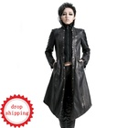 Y-422 Sexy Fashion Italian Women Long Full Length PU Leather Coat