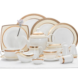 China Factory Pure White Dinner Thali Set, Porcelain Dinnerware Set Bone China@